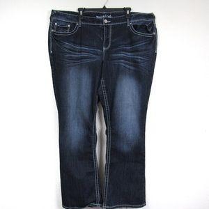 Maurices Dark Blue Wash Jeans 26 Regular